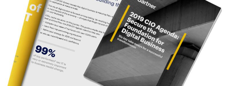 Front cover of 2019 CIO Agenda: Secure the Foundation for Digital Business