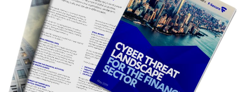 F-Secure - Cyber Threat Landscape for the Finance Sector 2019 Cover
